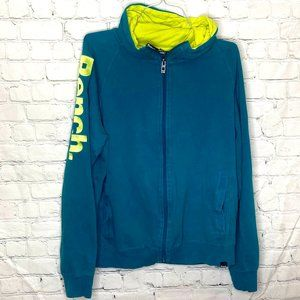 Bench teal zip up hoodie with pockets